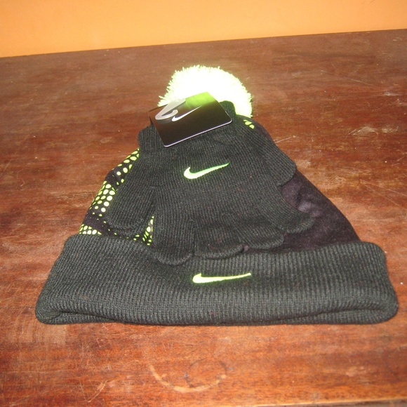 bf25ebbd6d2 Black Volt Nike Boys Hat and Glove Set